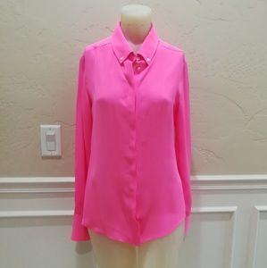 Marissa Webb 100% silk Pink Button Down